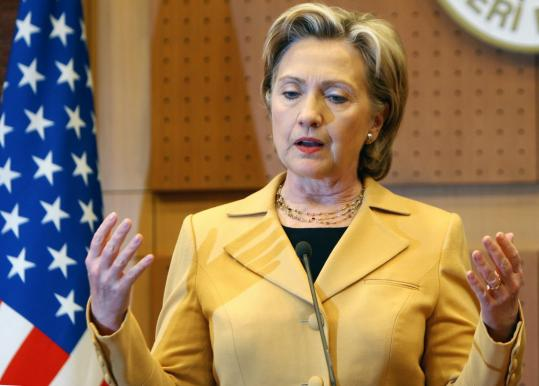 Secretary of State Hillary Rodham Clinton said yesterday in Ankara that her visit to Turkey was ''a reflection of the value we place on our friendship.'' The invasion of Iraq has strained ties.