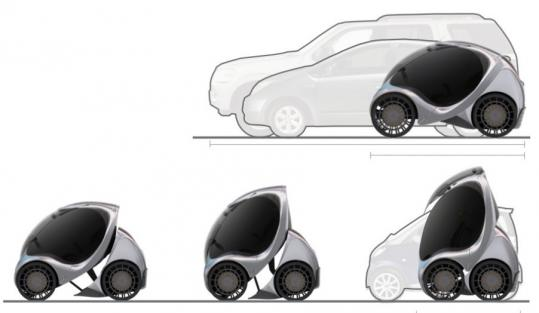 WILL LARK/MIT MEDIA LAB: SMART CITIES GROUPMIT is submitting a proposal to build a network of stackable cars in a city in Asia. A university initiative is focused on solving transportation problems.