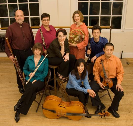 Clockwise from top left: Gregory Newton, Jennifer Montbach, Sarah Bob, Anne Howarth, Eran Egozy, Jae Young Cosmos Lee, Miriam Bolkosky, Sarah Brady.