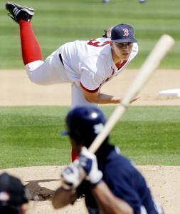 Justin Masterson threw three more shutout innings yesterday.