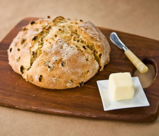 Soda bread with golden raisins - The Boston Globe