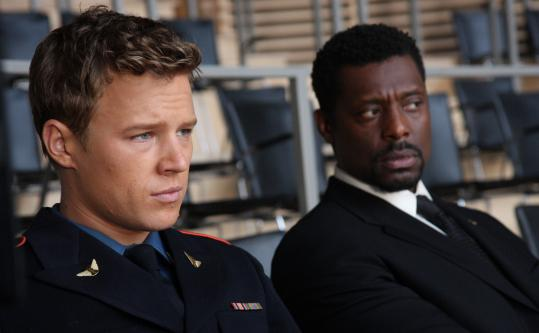 Christopher Egan (left) and Eamonn Walker in NBC's ''Kings.''