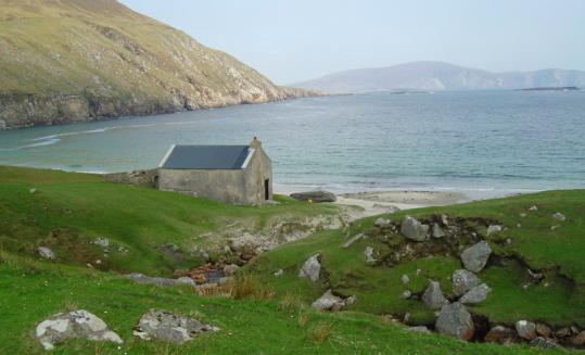 The coast in County Mayo, pirate Grace O'Malley's territory.