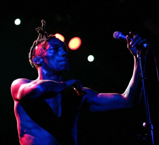 MARK METCALFE/GETTY IMAGES/file 2008Tricky (shown last year in Australia) played a fired up show at the Roxy.