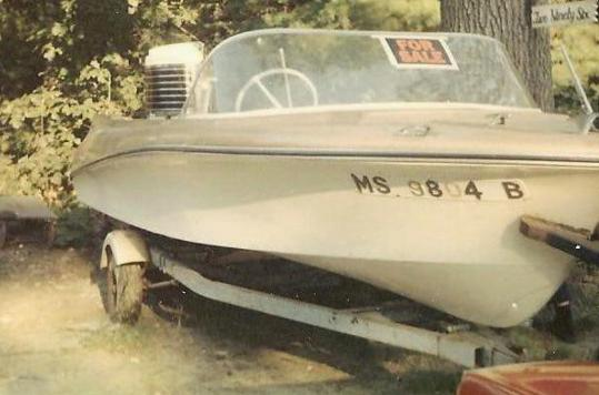 The Beckham family boat, sold to raise money needed to turn the garage into a family room. Its sale was a great sacrifice for the owner.