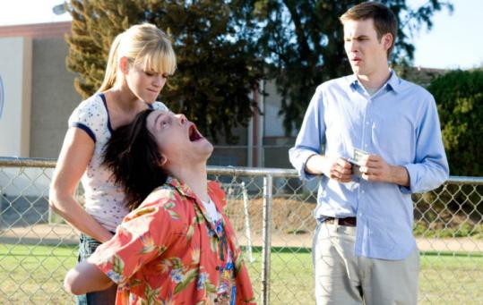 From left: Molly Stanton, Trevor Moore, and Zach Cregger in the sex comedy ''Miss March.''