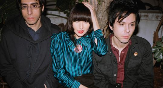 The Yeah, Yeah, Yeahs - Karen O, Brian Chase (left), and Nick Zinner - now offer ''It's Blitz!'' online and release it March 31.