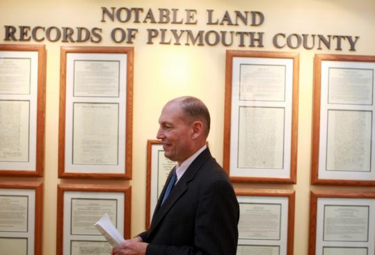 John R. Buckley Jr., the Plymouth County register of deeds, said the idea behind displaying the collection ''was to show off records that we have in this building that have been hidden away for so long.''