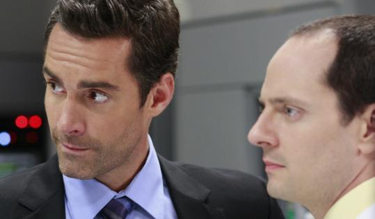 Jay Harrington (left) and Jonathan Slavin in ABC's corporate satire ''Better Off Ted.''
