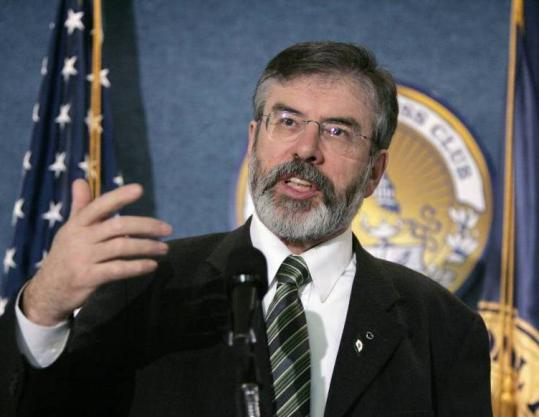 Speaking at the National Press Club, Gerry Adams said his dream of a unified Ireland is more relevant now than ever.