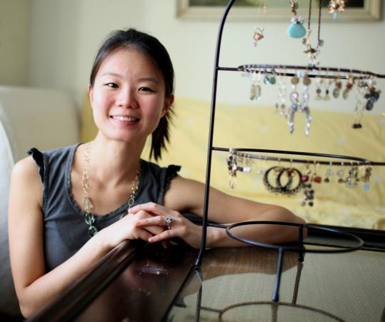 Harvard doctoral student Sherry Libedinsky is getting attention for her jewelry.