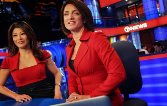 The marquee duo of Frances Rivera (left) and Kim Khazei were made Channel 7's permanent anchor team yesterday.