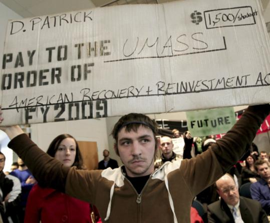 UMass-Dartmouth students protested last month after university trustees approved a $1,500-per-student fee hike.