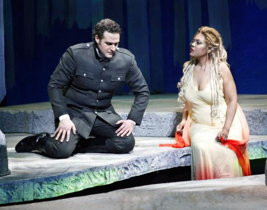 Bryan Hymel stars as the Prince and Marquita Lister is the title character in ''Rusalka.''