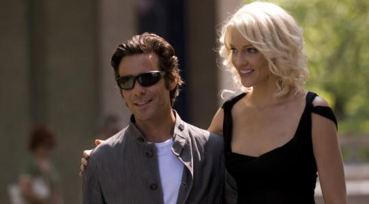 James Callis and Tricia Helfer in the ''Battlestar'' finale.