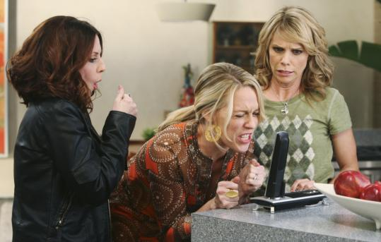 From left: Megan Mullally, Jessica St. Clair, and Cheryl Hines in ABC's ''In the Motherhood.''
