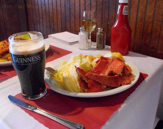 The fare is strictly Irish, like this boiled dinner. ''We try to keep this like a traditional Irish pub, which is fading out in Ireland,'' says Murphy, whose parents own a bar in County Kerry.