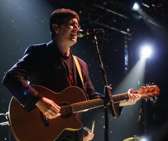John Darnielle (shown last year in New York) unleashed his acoustic attack in Somerville.