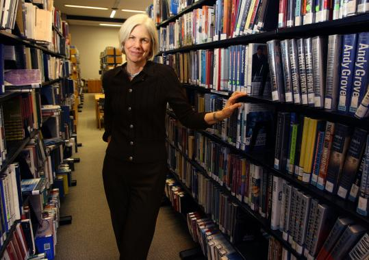 Amy Ryan, president of the Boston Public Library, wrote her master's thesis on the role of libraries in economic downturns.