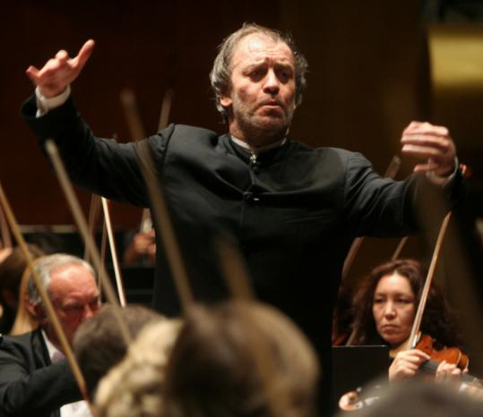 Valery Gergiev, shown leading the Kirov Orchestra in New York last year, is now on tour with the London Symphony Orchestra.