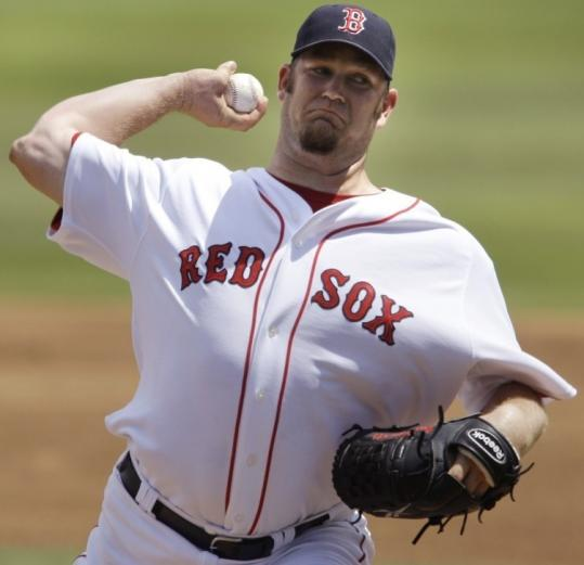 With the fifth starter's role to be determined, Brad Penny allowed four hits and two runs in four innings vs. the Twins.