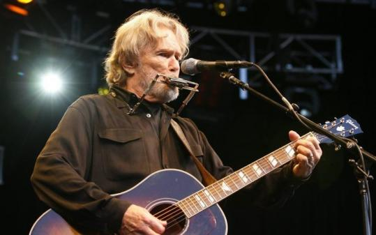 Kris Kristofferson (shown in Zurich last year) needed only a guitar and harmonica to bring his songs to life Saturday.