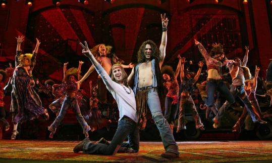 Gavin Creel and Will Swenson lead the ensemble Broadway revival of ''Hair'' at the Al Hirschfeld Theatre in New York.