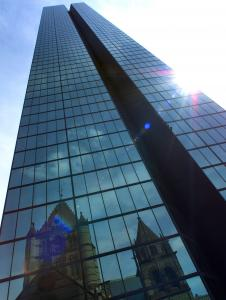The delinquency rate on loans for office buildings, stores, and other commercial properties has increased rapidly in recent months. The Hancock Tower's foreclosure began in January.