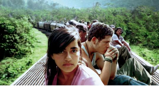 Paulina Gaitan and Edgar Flores star in ''Sin Nombre,'' from first-time director Cary Fukunaga.