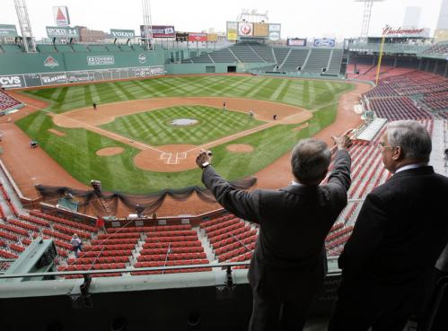 Red Sox president Larry Lucchino gave a tour of the stadium to Boston Mayor Thomas Menino on Thursday, four days before the opener against Tampa Bay. Lucchino says a few more years of upgrades will be done and the park should last for another 40 to 50 years. This is the eighth straight year of improvements. There are more seats in the upper right field stands.