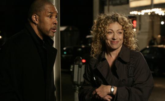 Eriq La Salle and Alex Kingston in the series finale of ''ER.''