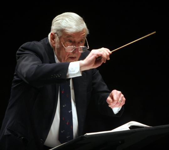 Gunther Schuller (pictured in 2007) opened and closed with symphonies by Joseph Haydn.