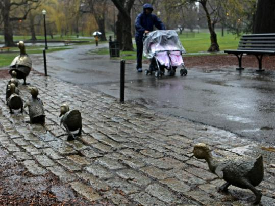 A space now marks the spot where Pack, one of the eight famous ducklings, once waddled.