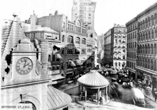 Scollay Square in Boston, shown in its heyd