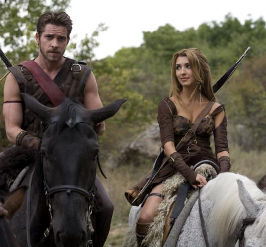 Sean Maguire and India de Beaufort in Comedy Central's ''Krod Mandoon and the Flaming Sword of Fire.''
