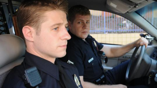 Benjamin McKenzie (left) and Michael Cudlitz play LA police officers in NBC's ''Southland.''