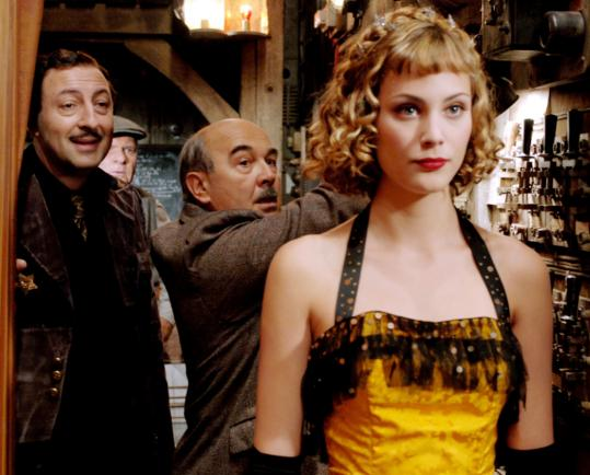 Kad Merad (left), Gérard Jugnot, and Nora Arnezeder in Christophe Barratier's ''Paris 36.''