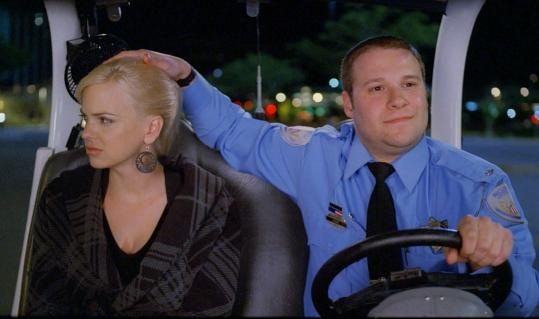 Anna Faris and Seth Rogen in the comedy ''Observe and Report.''