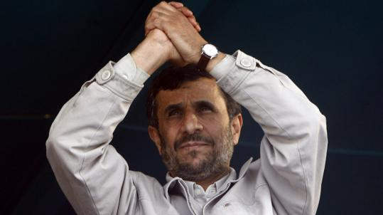 President Mahmoud Ahmadinejad of Iran said yesterday he welcomes talks if they are sincere.