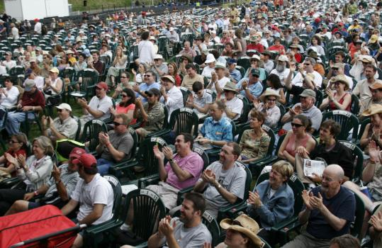 Bluegrass draws about 80,000 fans to Wilkesboro, N.C., each year for the four-day Merlefest.