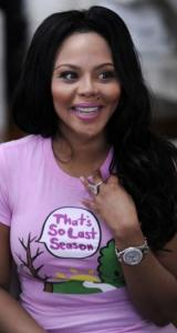 Rapper Lil' Kim has rebounded from her ''naughty'' years to show a sensitive side on ''Dancing With the Stars.''