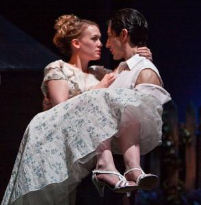 Delilah Kistler and Aidan Kane in ''Picnic'' at Stoneham Theatre.