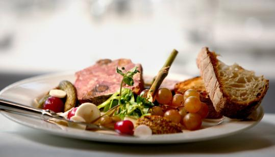 Chef Jason Bond's pate du chef changes frequently at Beacon Hill Bistro, which is part of the Beacon Hill Hotel.