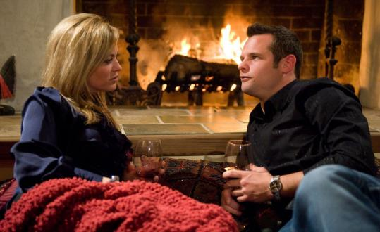 Stacey Anderson, 40, the ''Cougar'' of tonight's premiere episode, has a wine date with Jon, 27.