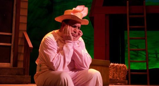 Robert Saoud as Wilbur the pig in ''Charlotte's Web.''