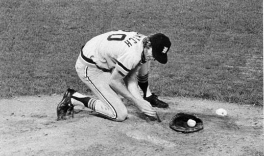 Detroit Tigers pitcher Mark Fidrych began games by grooming the surface of the mound and speaking to himself via the baseball. In 1976 he was the American League Rookie of the Year.