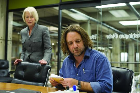 Russell Crowe plays an investigative reporter whose congressman friend is involved in a scandal, and Helen Mirren portrays his imperious editor.