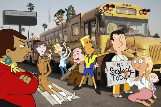 Fox's new animated series, ''Sit Down, Shut Up,'' follows a group of unconventional teachers at a Florida high school.
