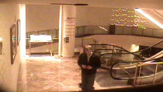 Police are seeking the public's help in locating this man, shown in frame of a surveillance tape from the Marriott Copley hotel.