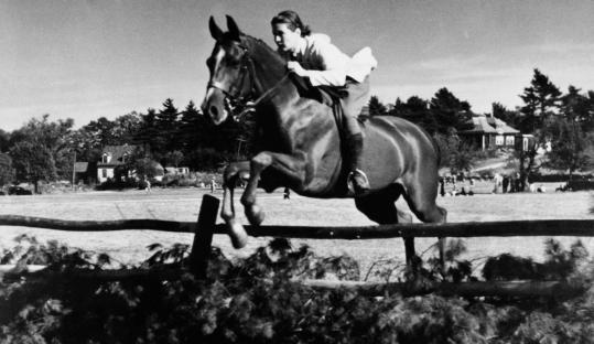 In the late 1930s, Sarah Swift rode in a horse show in Medfield on her horse, Douchka, the Russian word for dearest. He was given to her while she was teaching riding at the Dedham Country and Polo Club.